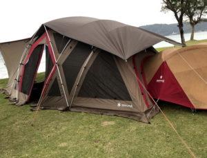 屋我地ビーチキャンプ場レポ(沖縄県名護市)20210109-11 リビングシェルロングProとランドブリーズ2